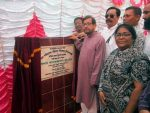Noor lays foundation of FPD building in Nilphamari