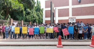 হল-ক্যাম্পাস খোলার দাবিতে বুয়েট শিক্ষার্থীদের মানববন্ধন